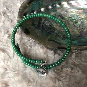 Alex and Ani jade wrap bracelet